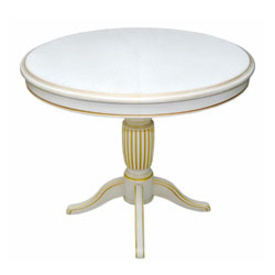 Обеденные столы Турин-02 Дуб белый с золотой патиной за 15 950 руб