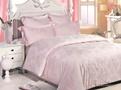 Однотонное постельное белье «Pink Loza» Евро