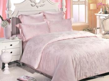 Постельное белье Однотонное постельное белье «Pink Loza» Евро за 3 650 руб