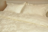 Однотонное постельное белье «Лоза шампань» 1.5-спальный за 3600.0 руб