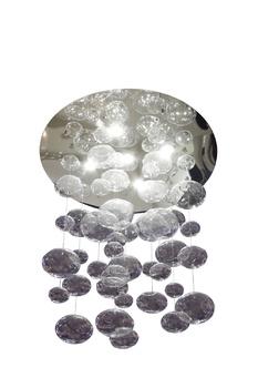 Светильники, бра, торшеры Светильник подвесной Tropfen C2, прозрачный, серебристый металл за 20 000 руб