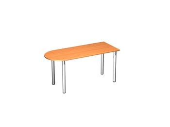 Письменные столы Стол письменный полукруглый на хромированных опорах за 5 301 руб