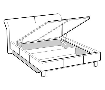 Кровати Кровать двуспальная с подъемным механизмом за 30 608 руб