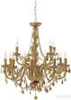 Светильник подвесной Gioiello Crystal, 14 плафонов, золотистый за 59800.0 руб