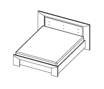 Кровати Кровать двуспальная за 15 114 руб