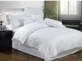 Белое постельное белье «Stripe white»  Евро