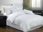 Белое постельное белье «Stripe white»  Евро за 3800.0 руб