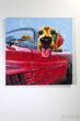 Картина Dog Cabrio 100x100см, масло за 31300.0 руб