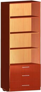 Мебель для персонала Шкаф книжный полуоткрытый с ящиками за 4 395 руб