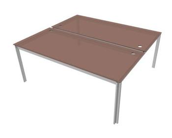 Офисные столы Стол двойной, стекло за 109 621 руб