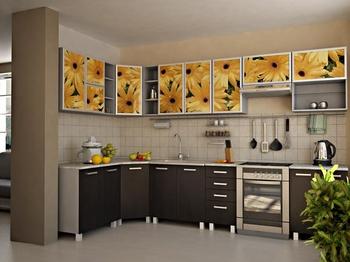 Кухонные гарнитуры Кухня фотопечать на МДФ за 20 000 руб