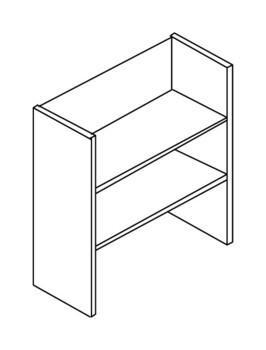 Мебель для персонала Стеллаж средний без верхнего и нижнего горизонтального щита за 3 175 руб
