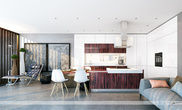 Мебель для кухни Палисандр-Кристалл за 36500.0 руб