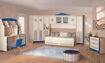 Корпусная мебель Детская модульная система для мальчиков КАПИТАН за 9 550 руб