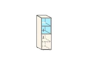 Кабинет/Библиотека Шкаф узкий низкий со стеклом за 2 810 руб