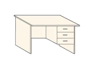 Кабинет/Библиотека Стол письменный с тремя ящиками R за 3 500 руб