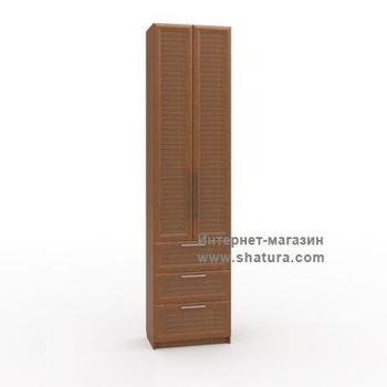 Гостиные Флоренция Шкаф с 3мя ящиками гл. 420 (орех) за 13 040 руб