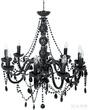 Светильник подвесной Gioiello Crystal, 9 плафонов, чёрный за 33200.0 руб