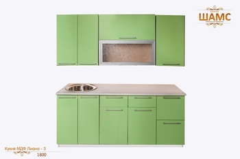 Кухонные гарнитуры Кухня МДФ Лиана - 3 за 22 840 руб