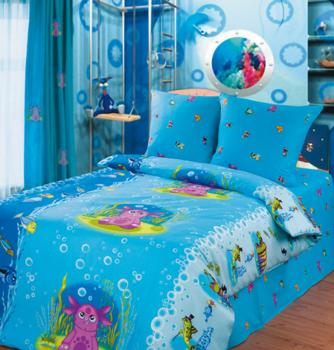 Постельное белье Подводный мир за 1 340 руб