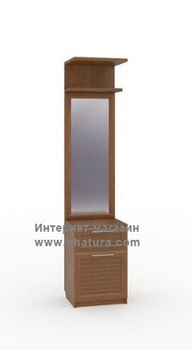 Прихожие Неаполь Секция с зеркалом (орех) за 4 980 руб