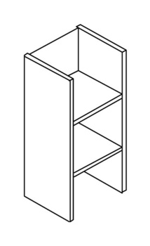 Мебель для персонала Стеллаж средний без верхнего и нижнего горизонтального щита за 2 665 руб