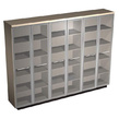 Офисная мебель Шкаф для документов со стеклянными высокими дверьми за 134646.0 руб