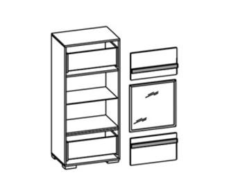Гостиные Шкаф напольный за 16 166 руб