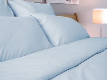 Постельное белье Простынь на резинке «Blue Satin» 140х200 за 1 400 руб