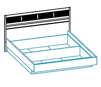 Кровати Интерьерная кровать с подъемным механизмом за 23 019 руб