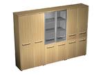 Офисная мебель Шкаф комбинированный ( одежда - стекло - закрытый, 4 двери) за 104946.0 руб
