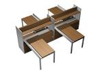 Столы и стулья Рабочая станция (4х140) с ProSystem на 2-опорных тумбах-купе с ProSystem левой/правой с надстройками за 163420.0 руб