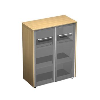 Мебель для персонала Шкаф для документов средний со стеклянными дверьми за 37 002 руб