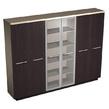 Офисная мебель Шкаф комбинированный (закрытый- стекло- одежда), дуб за 100342.0 руб