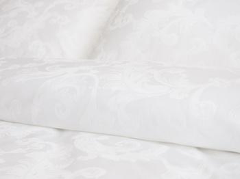 Постельное белье Белое постельное белье «Флоренция» Евро за 4 100 руб