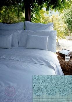 Постельное белье Постельное белье «Флер» голубой 1.5-спальный за 8 400 руб