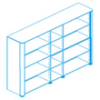 Офисная мебель Стеллаж высокий, топ и боковины в отделке натуральной кожей за 342927.0 руб