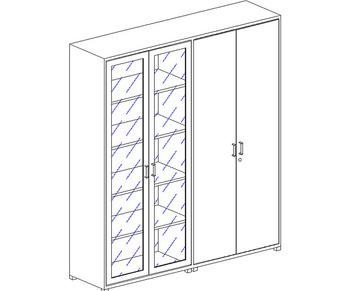 Мебель для персонала Шкаф высокий за 35 628 руб