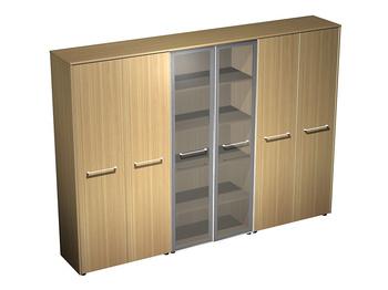 Мебель для персонала Шкаф комбинированный (закрытый - стекло - закрытый) за 102 821 руб