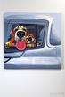 Картина Dog Family Car 100x100см за 36200.0 руб