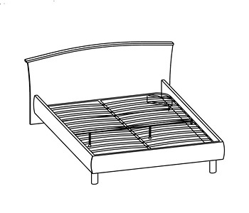 Кровати Кровать двуспальная за 12 986 руб