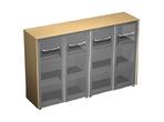 Офисная мебель Шкаф для документов со стеклянными дверьми (стенка из 2 шкафов) за 69266.0 руб