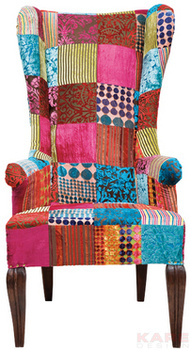 Кресла Кресло с подлокотниками Patchwork Velvet за 70 100 руб