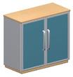 Шкаф низкий со стеклом за 68347.7 руб