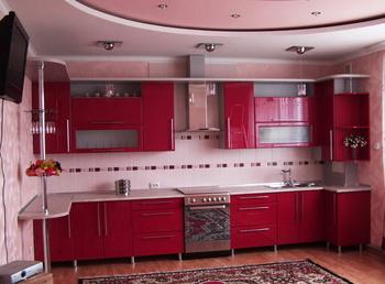 Кухонные гарнитуры Кухня (фасады в итальянском пластике Arpa) за 17 000 руб