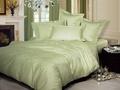 Однотонное постельное белье «Нежность», олива Семейный