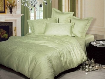 Постельное белье Однотонное постельное белье «Нежность», олива Семейный за 4 950 руб
