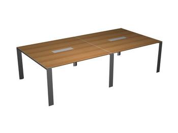 Столы для переговоров Стол для переговоров П-опоры, ноги-хром за 215 147 руб
