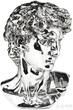 Бюст декоративный Michelangelo Silver за 23200.0 руб