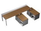 Столы и стулья Рабочая станция (2х160) с ProSystem на 2-х опорных тумбах правых за 67434.0 руб
